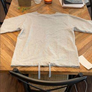 NWT Lululemon gray short sleeve sweatshirt